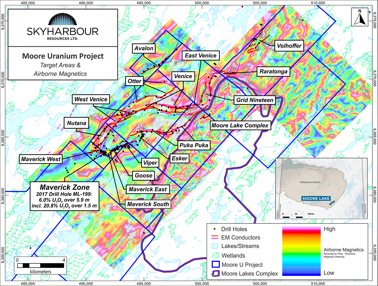 Moore Uranium Project Regional Drill Targets: