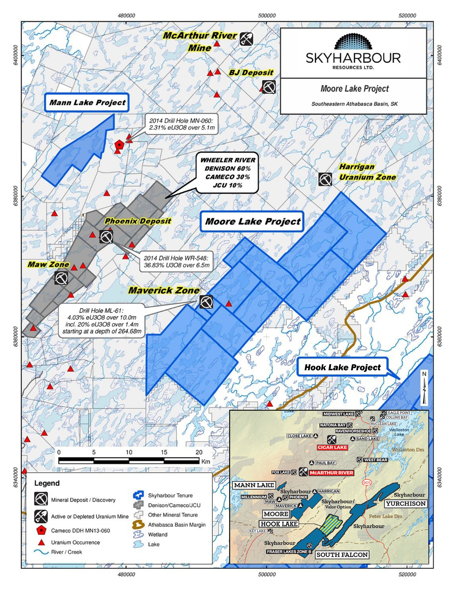 Moore Uranium Project Claims Map