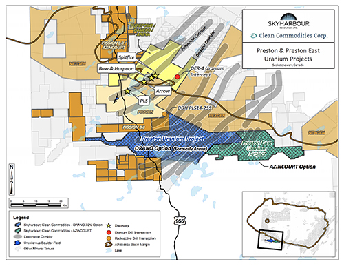 Preston Uranium Project Claims Map
