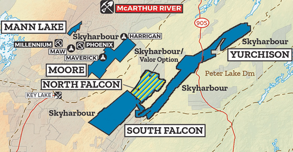 South Falcon Map